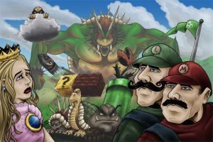 Super Mario Bros. by dmvcomics