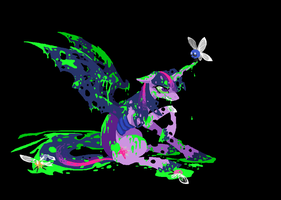 Changeling Twi, Twilight Sparkle pixel pic by FoldawayWings
