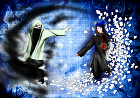Shino Vs. Konan by night-fell