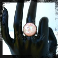 Soft Pink Faux Diochroic Ring by kelleejm1