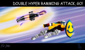 Double Hyper Ramming Attack by cheddarpaladin