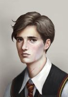 Young Remus Lupin fanart by Lasthielli by Lasthielli