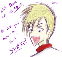 Are You Stupid? Izz- sketch by TheDemonSurfer