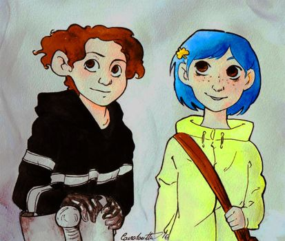 Coraline and Wilby by TOMEart