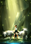 Princess Mononoke [+Speedpaint] by yuuike