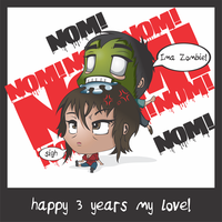 happy 3 year anniversary my love :) by AnatneM-Studios