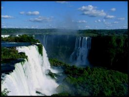 Iguasu Falls, South America by WesleyH