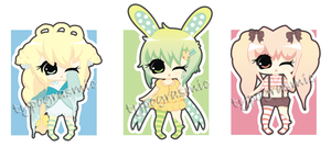 Cutie Pastel Babies Set [3/3 OPEN] by typograsmic