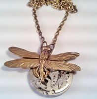 Emerging Dragonfly Necklace by SteamDesigns