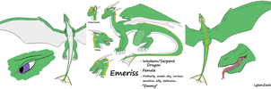 Emeriss Ref Sheet by LykenZealot