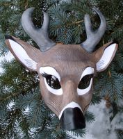 White Tail Deer Mask by merimask