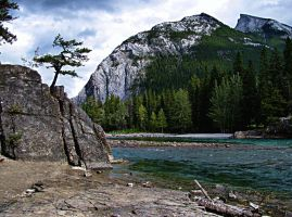Bow River, Banff, AB by DTherien