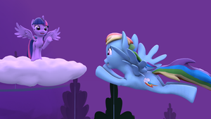Rainbow Dash Fly's By by RedxanNL