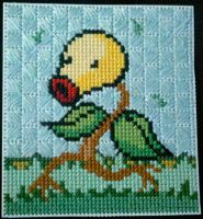 Battlin' Bellsprout cross stitch by starrley