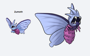 Pokefusion: Zumoth by phoenixbat