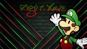 Luigi Red Wallpaper with RX by Kyoakuno