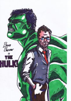 Bruce Banner is the Hulk (coloured) by TheDullYellowEye