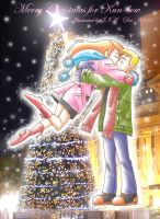 Christmas kiss by jiattmay