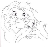Simba and Keira by Ceres17