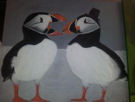 Puffins and top hat by kitten6288