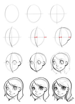 Drawing the face (how to) by Katie-O