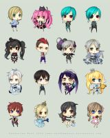 TM Chibi Commissions Set 1 by chuwenjie