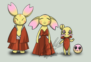 Villagers of Momoiro Forest by Lithiel