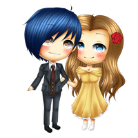 C: xoxKari Chibi Couple by xxxRinRulesxxx