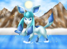 Shiny Glaceon by Rose-Beuty