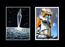 Star Wars sketch cards IV by AstroVisionary