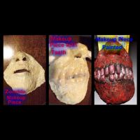 Small Zombie Face Prosthetic by jessthecase88