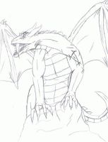 SABRE TOOTH BAHAMUT DRAGON WIP by victortky