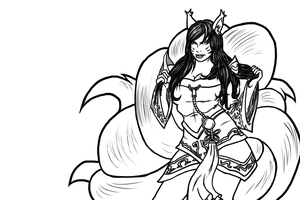 League of Legends Ahri by ChaosBloodLust