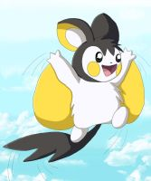 Fly Emolga Fly by chikadee34