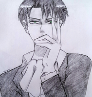 Rivaille Heichou- sketch by geriwiri