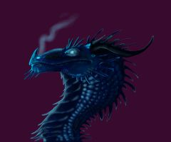 Blue Dragon by SarahDaktyl