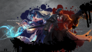 LoL - Sona and Mafia Graves Wallpaper by xRazerxD