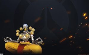 Overwatch Fire Wallpaper 1920x1200 - Zenyatta by Sirusdark