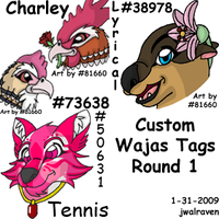 Completed Custom Tags by JwalsShop