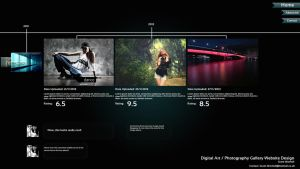 Artist/Photographer Timeline Concept Web Design by grant356