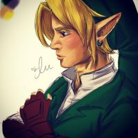 Link Sketch - Zelda: Ocarina of Time by iluvmpiche