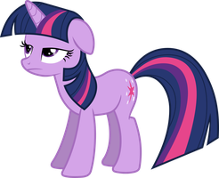 Unamused Twilight Sparkle Vector by Thorinair