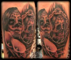 Skull mirror by state-of-art-tattoo