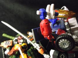 Optimus Prime draws his sword to kill Bludgeon by forever-at-peace