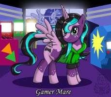 MLP Gamer Mare by Lew-Legend