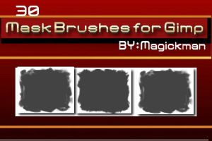 Masks Brushes for Gimp by blueeyedmagickman