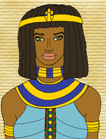 Cleopatra as Isis by BrandonSPilcher