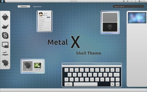 Metal X theme v.2.1 for Gnome 3.16 by CAI79