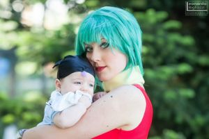 Bulma and baby Trunks by Temari-Cosplay