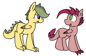 Scootaspike Siblings by RainCupcake